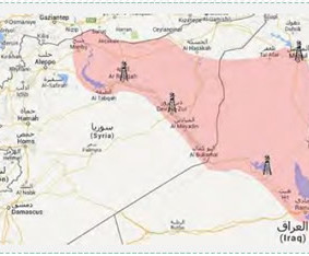 Oil fields in Syria and Iraq, in areas controlled by ISIS (islamist-movements.com)